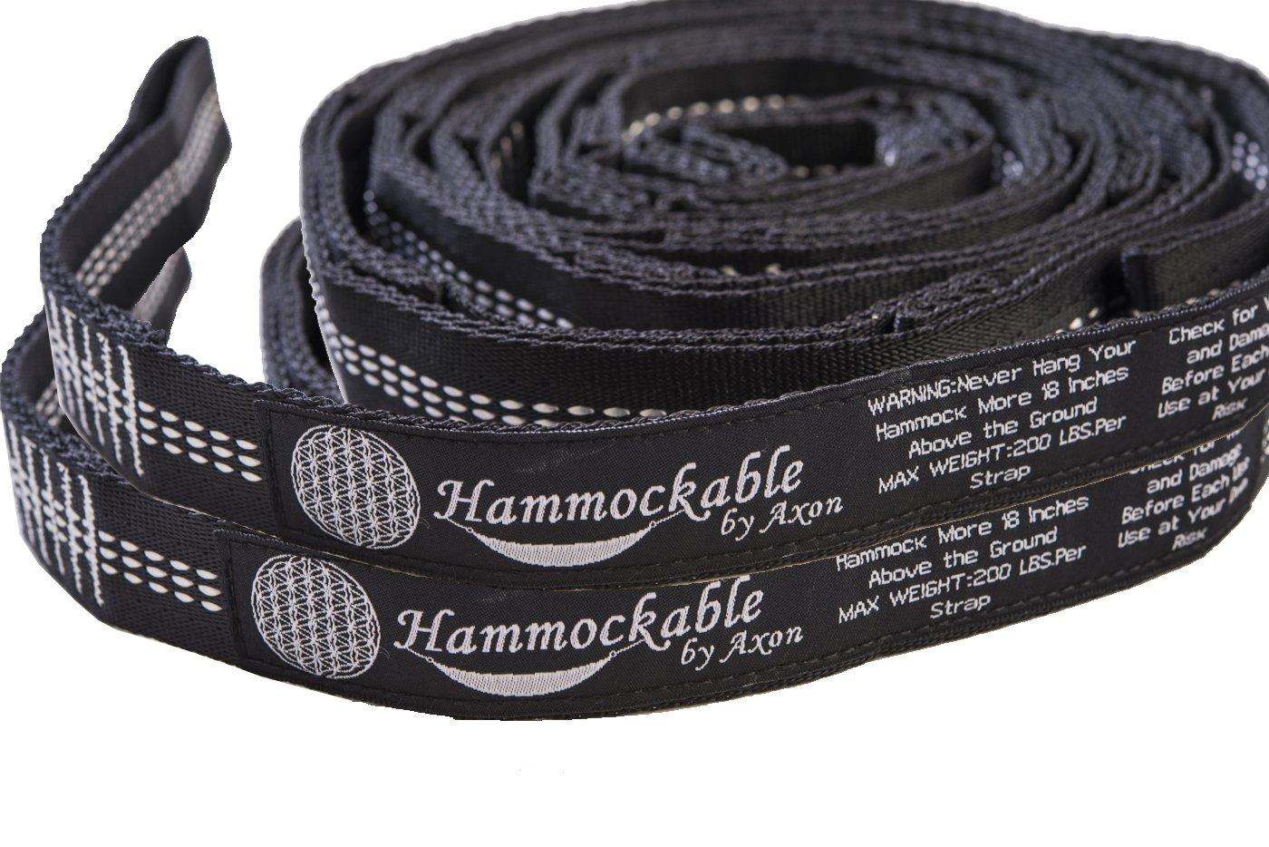 2 Loops /… Hammockable XL #1 Hammock Suspension System Combined 26 Ft Long Tree Strap Set w// 44