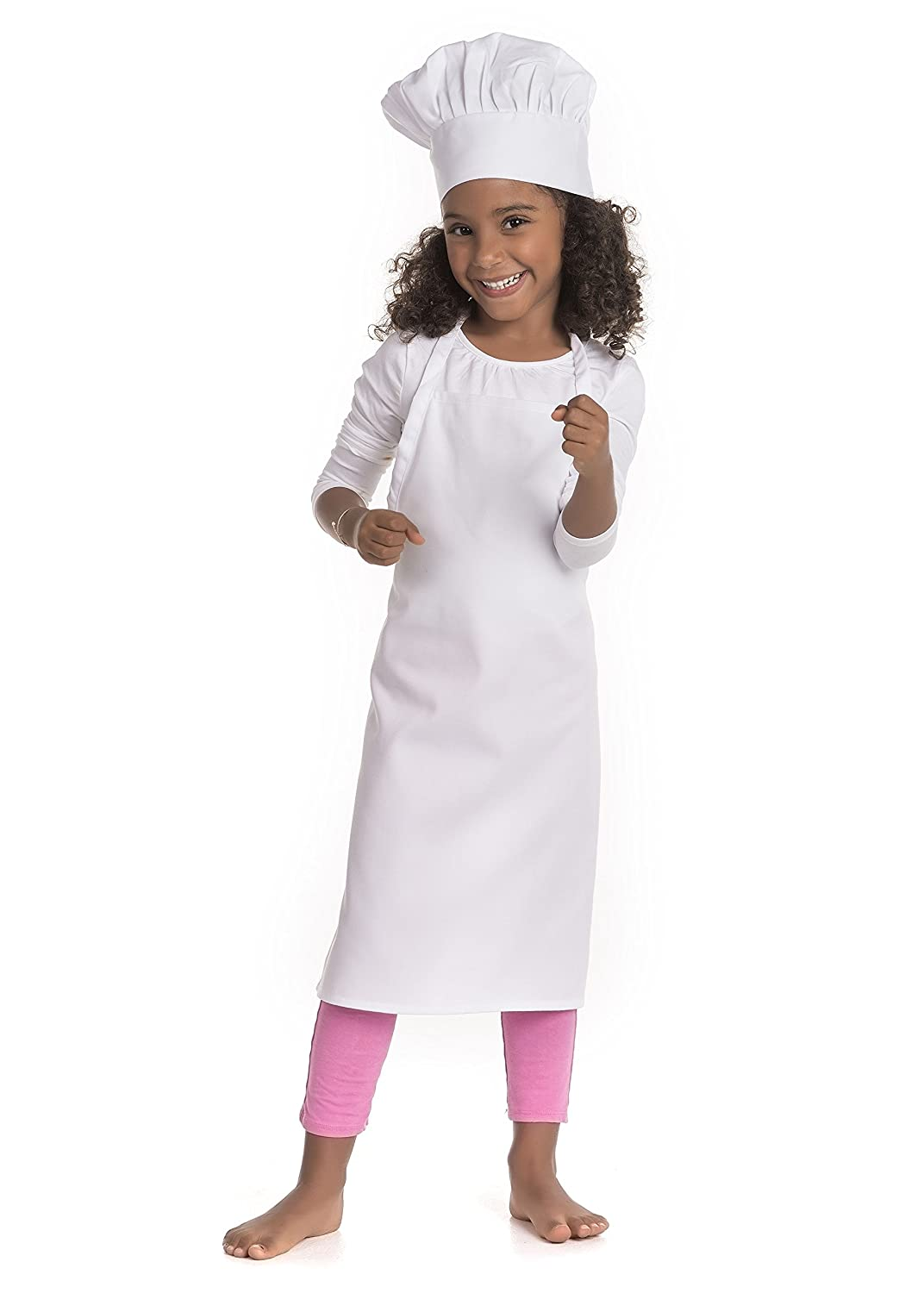 Kidcostumes Chef Set Apron and Hat Youth White