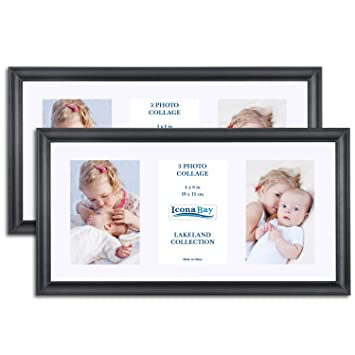 Amazon.com - Icona Bay 8x16 Picture Frames Collage with Mat Displays ...