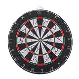 Ohuhu 18-inch Champion Tournament Bristle Dartboard, Double-sided Flocking Dart Board
