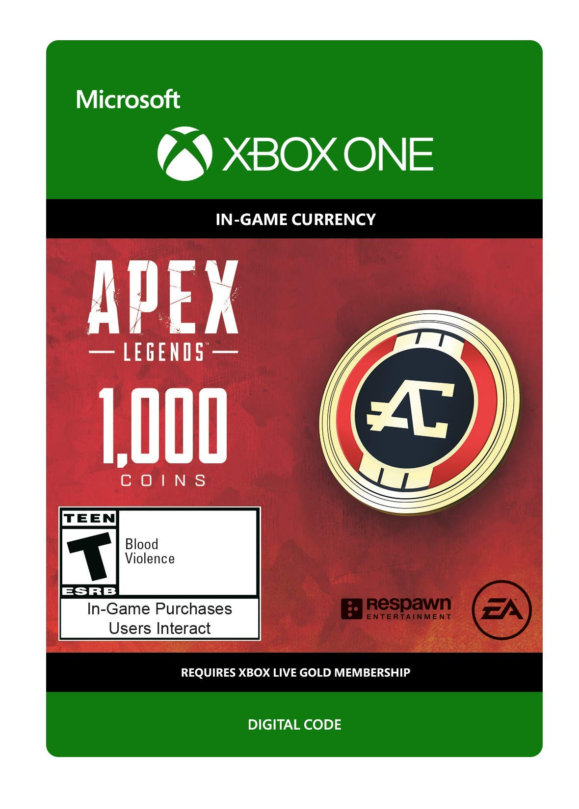 APEX Legends: 1000 Coins - Xbox One [Digital Code]