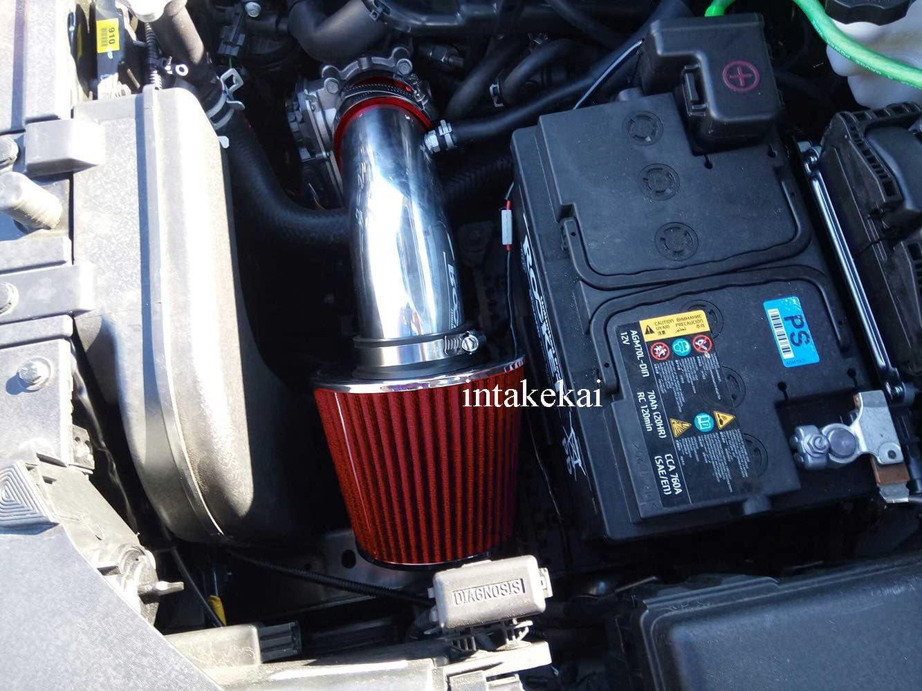 RED AIR INTAKE KIT SYSTEM for 2011-2017 HYUNDAI ELANTRA 2.0 2.0L L4 ENGINE