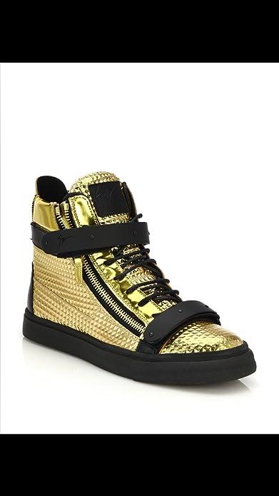 ba94ae4d89cc7 Giuseppe Zanotti Double Bar High Top Gold Sneakers: Amazon.ca: Shoes &  Handbags