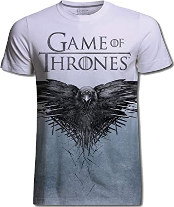 04eabee8 Game of Thrones Crow Sublimation Raven Official Tee T-Shirt Mens Unisex