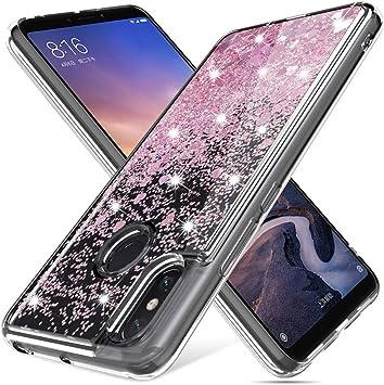 Gypsophilaa Funda Xiaomi Mi MAX 3 3D Glitter Liquido Brillante ...