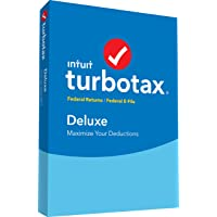 Intuit TurboTax Deluxe Tax Software 2017 Fed + Efile PC/Mac Disc [Amazon Exclusive]