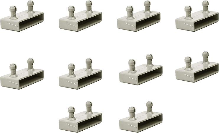 Tapas para listones laterales de 53 mm para marcos de metal, 2 puntas (paquete de 10)