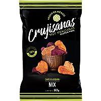 Crujisanas Snacks Vegetales Jicama, Betabel, Camote Y Zanahoria - 3 Bolsas De 140 Grs