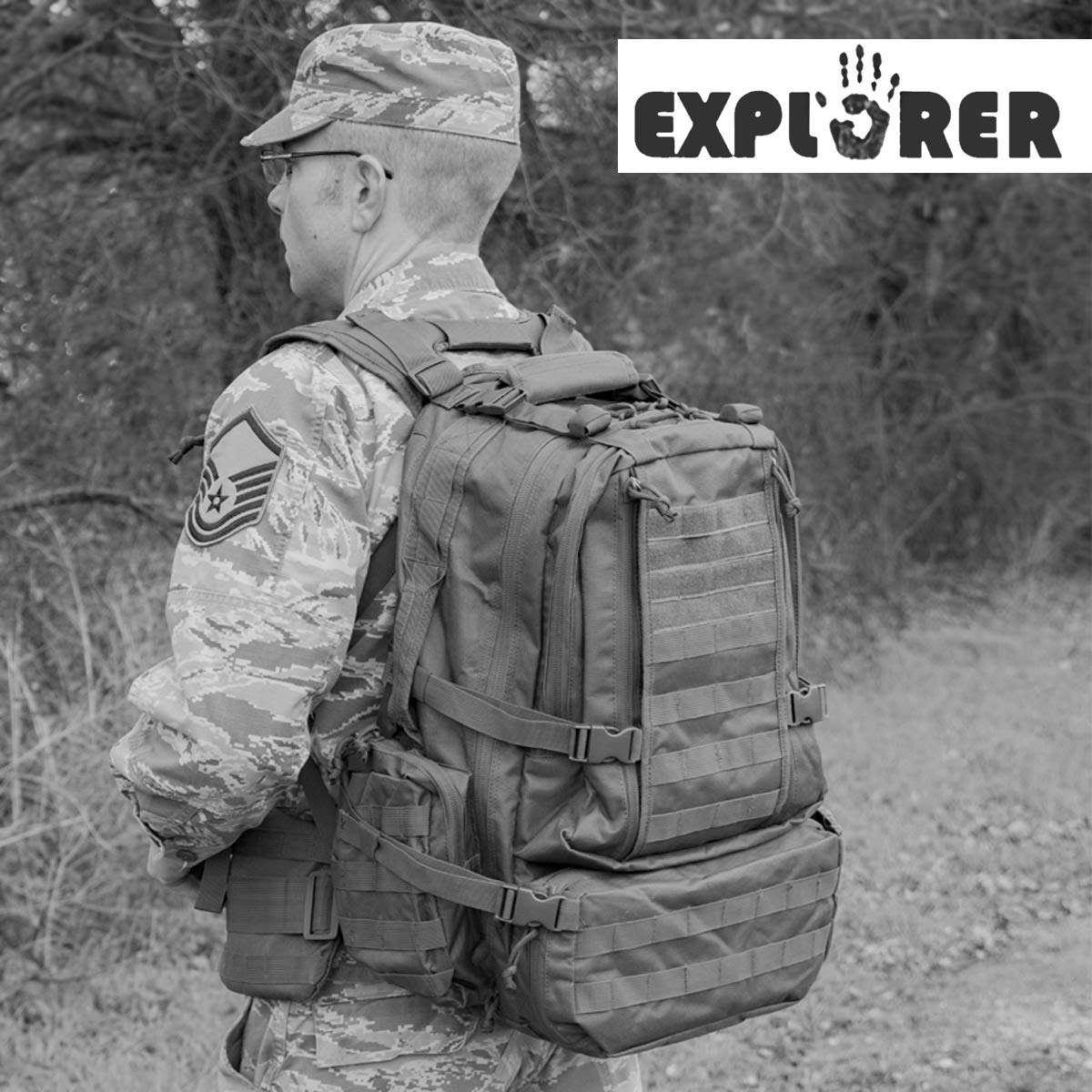 Explorer Tactical Backpack Hunting Camo Heavy Duty Duffel Bag Luggage  Travel Gear for Huniting Outdoor Police Security Every Day Use