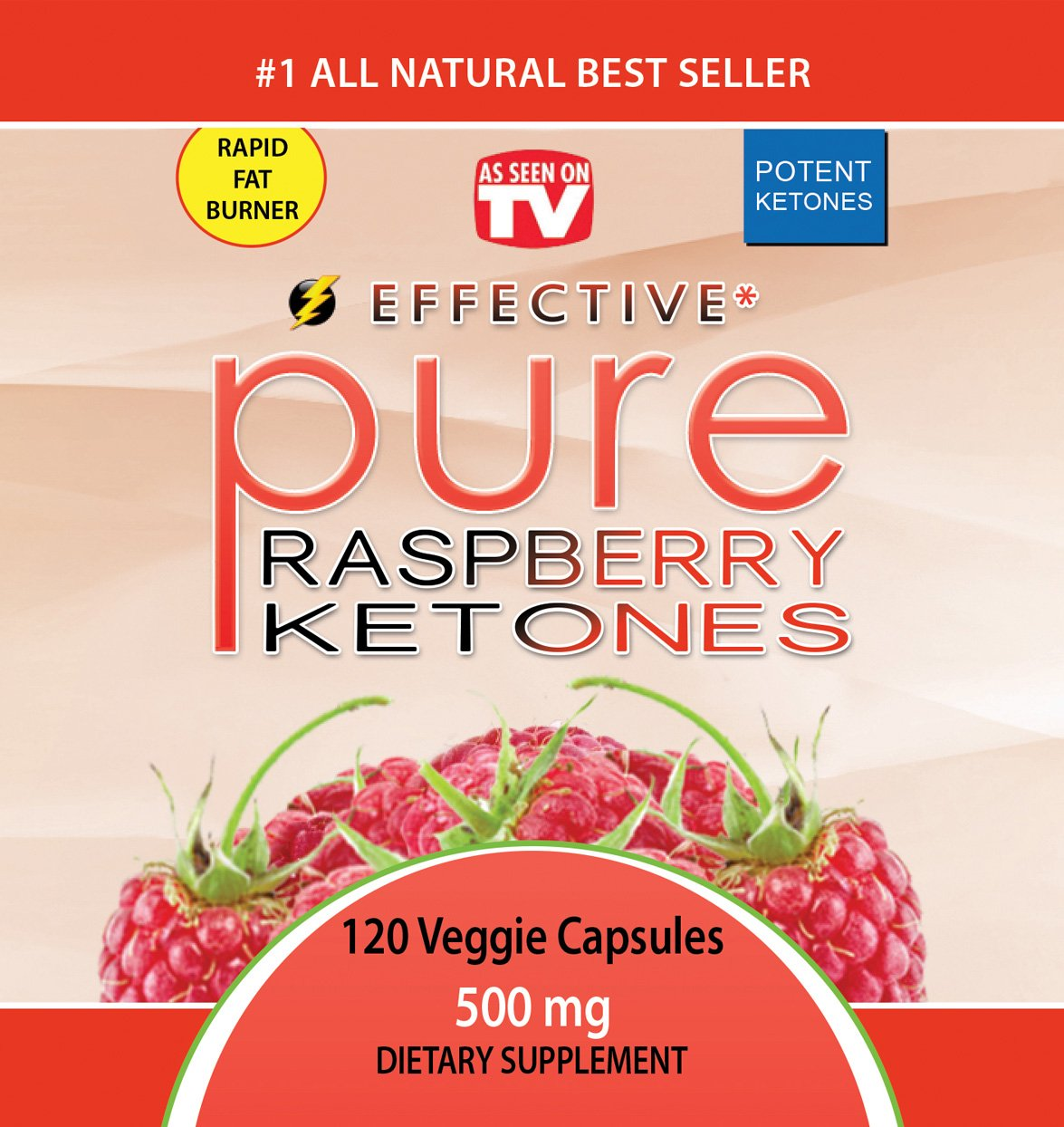 Amazon.com: Eficaz Pure Frambuesa Ketones – As Seen On TV ...