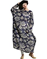 Yesno O183 Women Long Floral Dress Caftan Casual Plus Size Loose Fit Maxi 100% Cotton