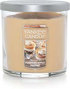Yankee Candle Small Tumbler Jar Pumpkin Apple Parfait Scented Premium Paraffin Grade Candle Wax with up to 55 Hour Burn Time