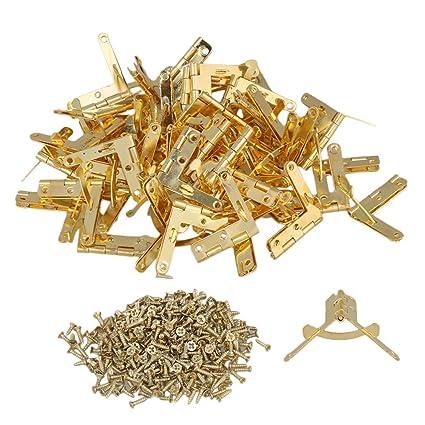 56398b827e1 BQLZR Hinge Hardware Accessories 33x30mm Gold Mini Flemingia Spring ...