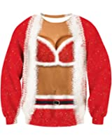 Leapparel Men/Women Ugly Christmas Sweater 3D Print Pullover Funny Graphic Sweatshirts