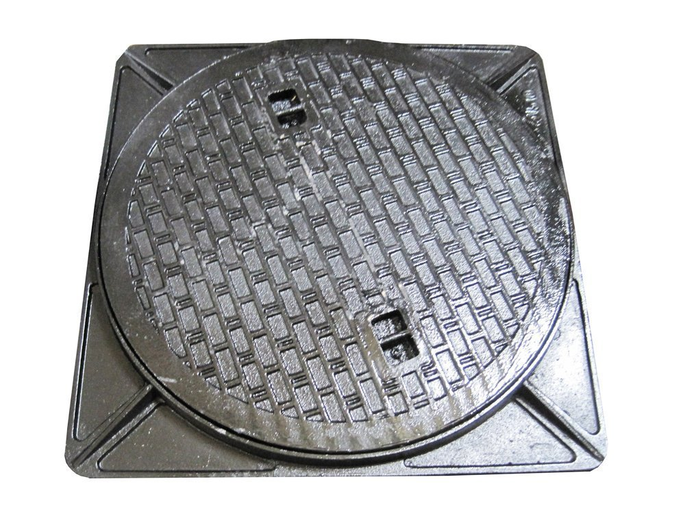 鋳鉄製 マンホール 浄化槽フタ 6t荷重マンホール (蓋枠セット) 穴径350mm (フタ径400mm) MK-6-350 B01I1N2NWU 16381   穴径350mm