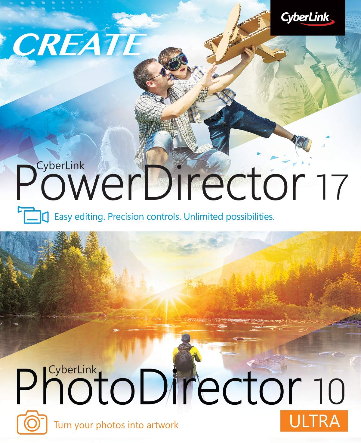 Cyberlink PowerDirector 17 and PhotoDirector 10 Ultra [PC Download] by Cyberlink