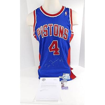 3d689f220 1990-91 Detroit Pistons Joe Dumars Signed Game Issued Jersey Auto - JSA  Certified -
