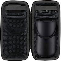 Khanka Harde hoes beschermhoes voor Bose Portable Home Speaker Luidspreker,Case past luidsprekers en laadschaal.(zwart)