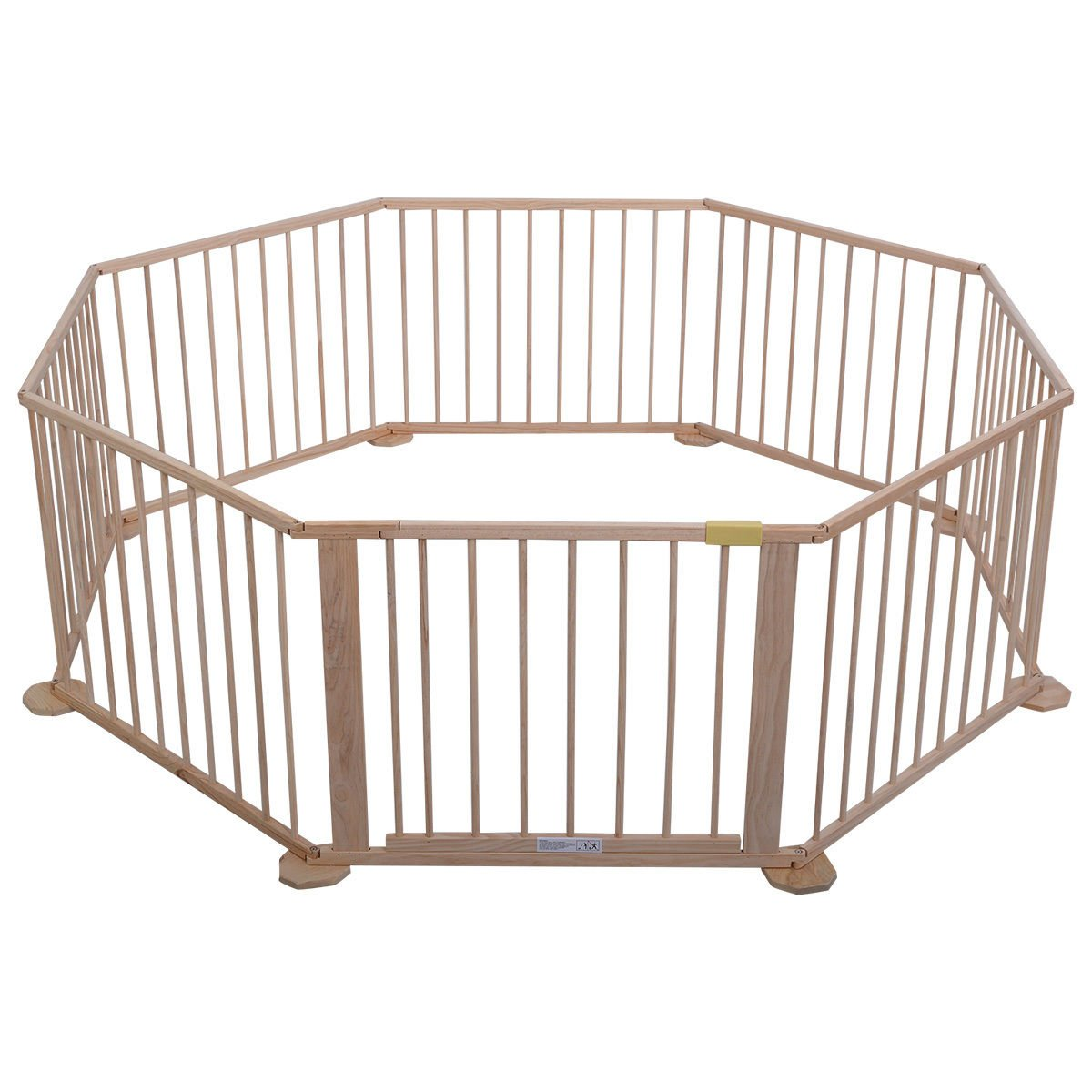 Wood Solid Pine Wood Baby Playpen With Ebook by MRT SUPPLY (Image #3)