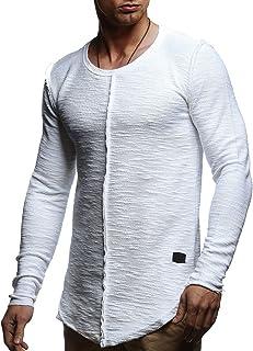 LEIF NELSON pour des Hommes Hoodie Pullover Longsleeve Oversize Sweatshirt col Rond Auschnitt Hoody Sweatshirt Sweater LN6357