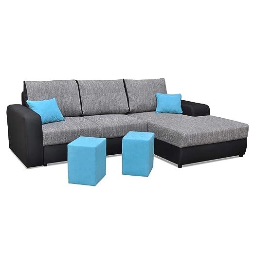 Furniture-r Francia sofá, de ángulo 5 plazas Convertible con ...