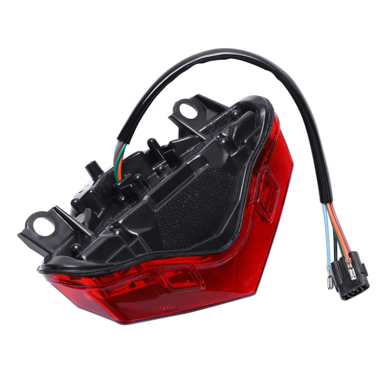 TOOGOO Luce Posteriore fanale Posteriore indicatori di direzione Luce LED Integrata per Kawasaki Er6N Er6F Ninja 650 Ex650 2012 2013 2014 2015 2016 Rosso