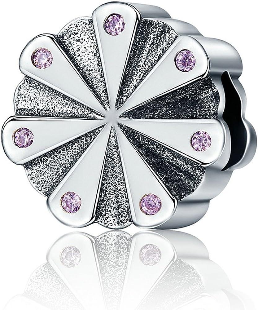 Soulove Brilliant Blossom 925 Sterling Silver Bead For Snake Chain Charm Bracelet