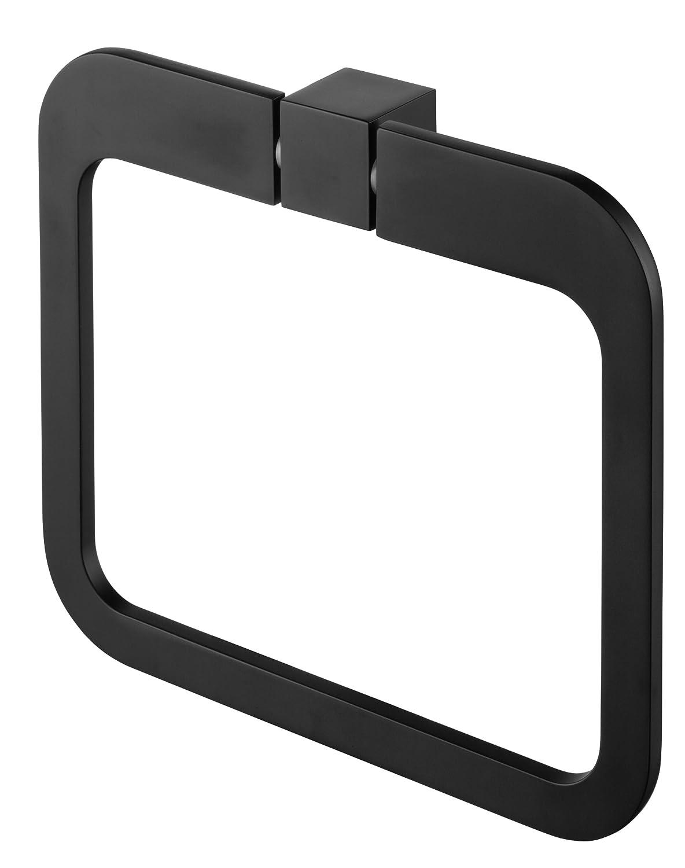 Bisk 02969 Futura Anneau Porte-Serviettes Noir 20 x 3 x 17,5 cm