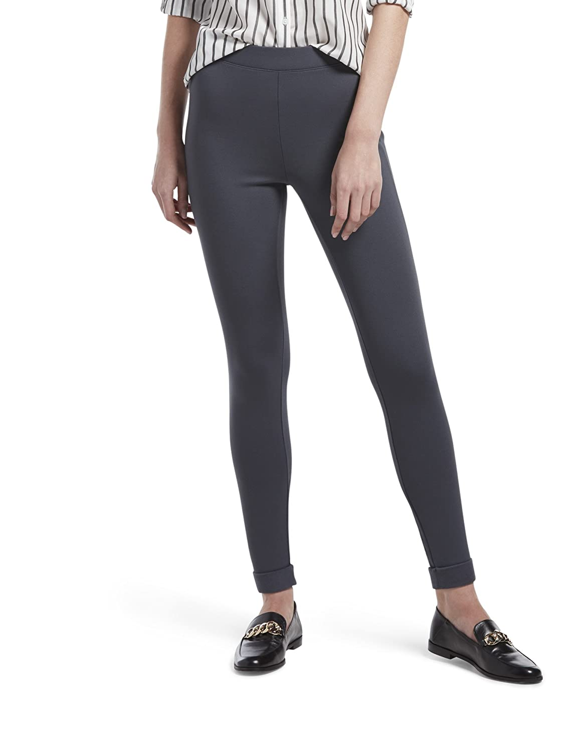 4048c53a16eb6 HUE Women's Fleece Lined High Waist Ponte Legging at Amazon Women's  Clothing store: