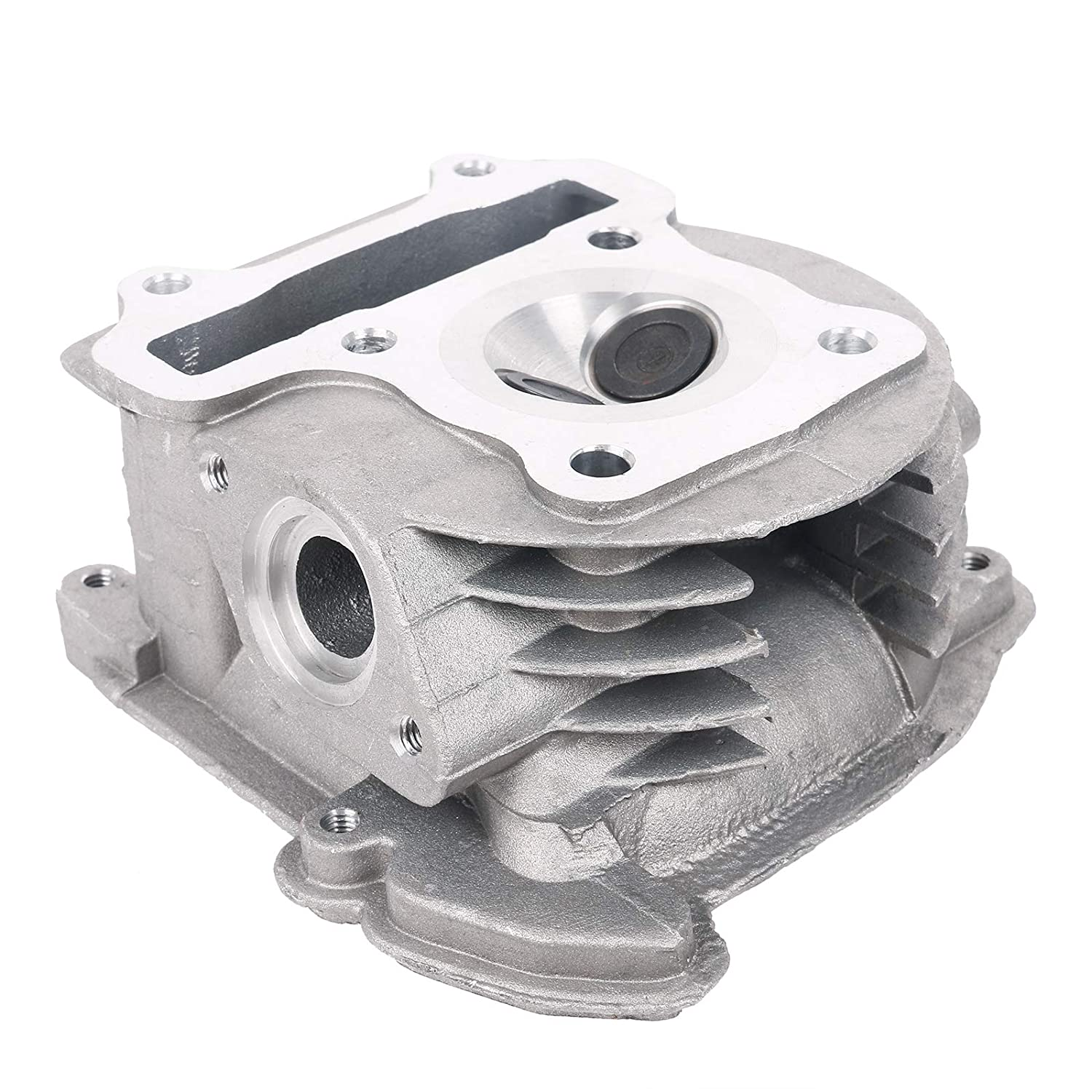 69mm Valves, Non EGR Type Glixal GY6 49cc 50cc to 100cc Chinese Scooter Engine 50mm Cylinder Head Assy for 139QMB 139QMA Moped ATV Quad Go Kart