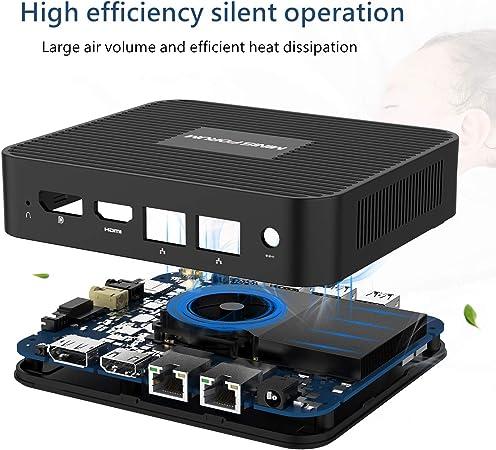 MINIS FORUM Mini PC 8GB LPDDR4 SSD 256GB Procesador Intel Celeron J4125 Quad Core (hasta 2.7GHz) Mini computadora con 4X Puertos USB 3.0 2X Gigabit ...