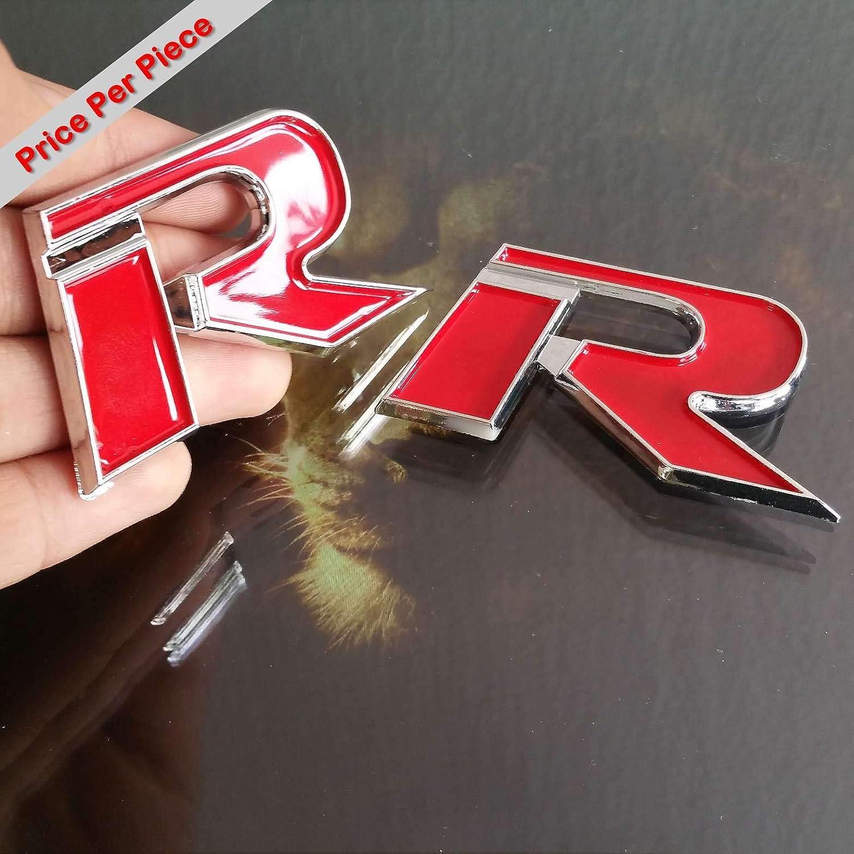 Self Adhesive Stickers Car Auto 3D Emblem Badge Decal Letter Chrome Symbol R