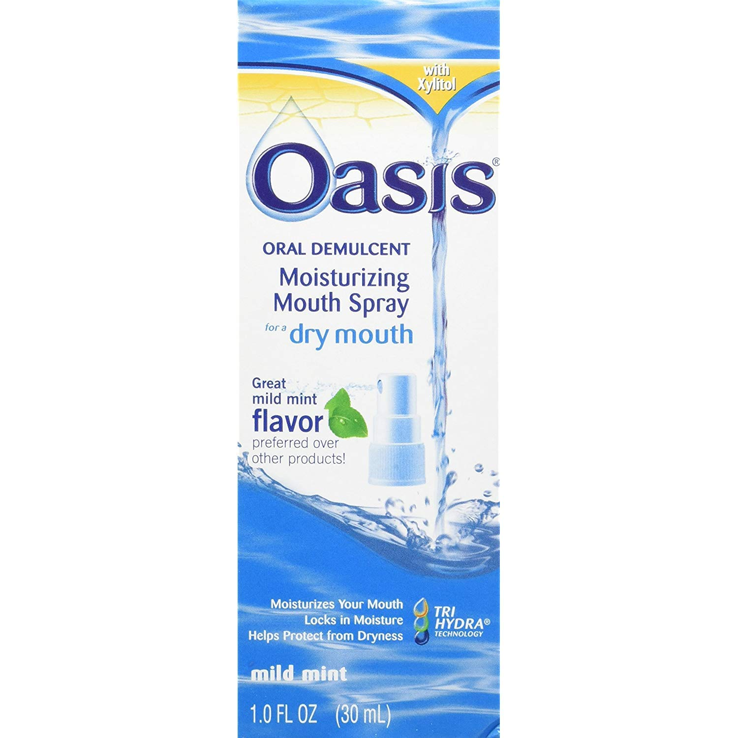 Oasis Moisturizing Mouth Spray Mild Mint 1 oz (Pack of 6)