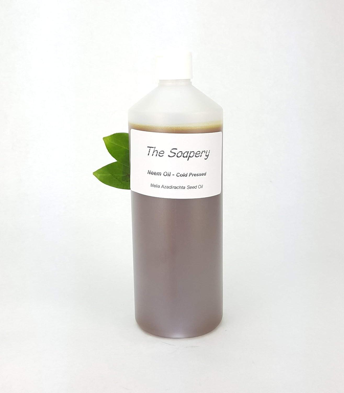 Aceite de neem 1 litro, prensado en frío, virgen, sin refinar, 100% natural