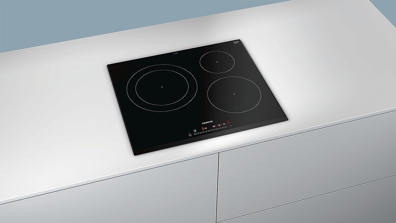 Siemens EH651FJB1E hobs Negro Integrado Con - Placa (Negro, Integrado, Con placa de inducción, 1400 W, 14,5 cm, 2200 W)