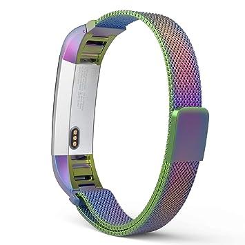 MoKo Fitbit Alta / Alta HR Correa - Reemplazo SmartWatch Band de Reloj de Acero Inoxidable