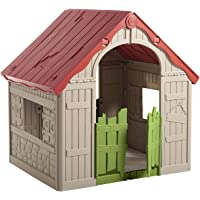 Keter Kids Wonderfold Easy 2-Step Foldable Playhouse ( Red/Green)