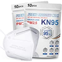 KN95 Face Mask 20Pcs, 5 Layer Design Cup Dust Safety Masks, Breathable Protection Masks Against PM2.5 Dust Bulk for…