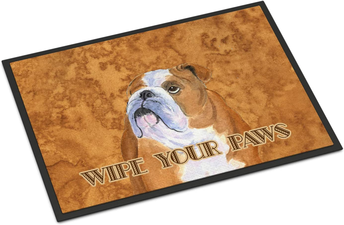 Caroline s Treasures SS4893MAT Bulldog English Wipe Your Paws Indoor or Outdoor Mat 18×27, 18H X 27W, Multicolor