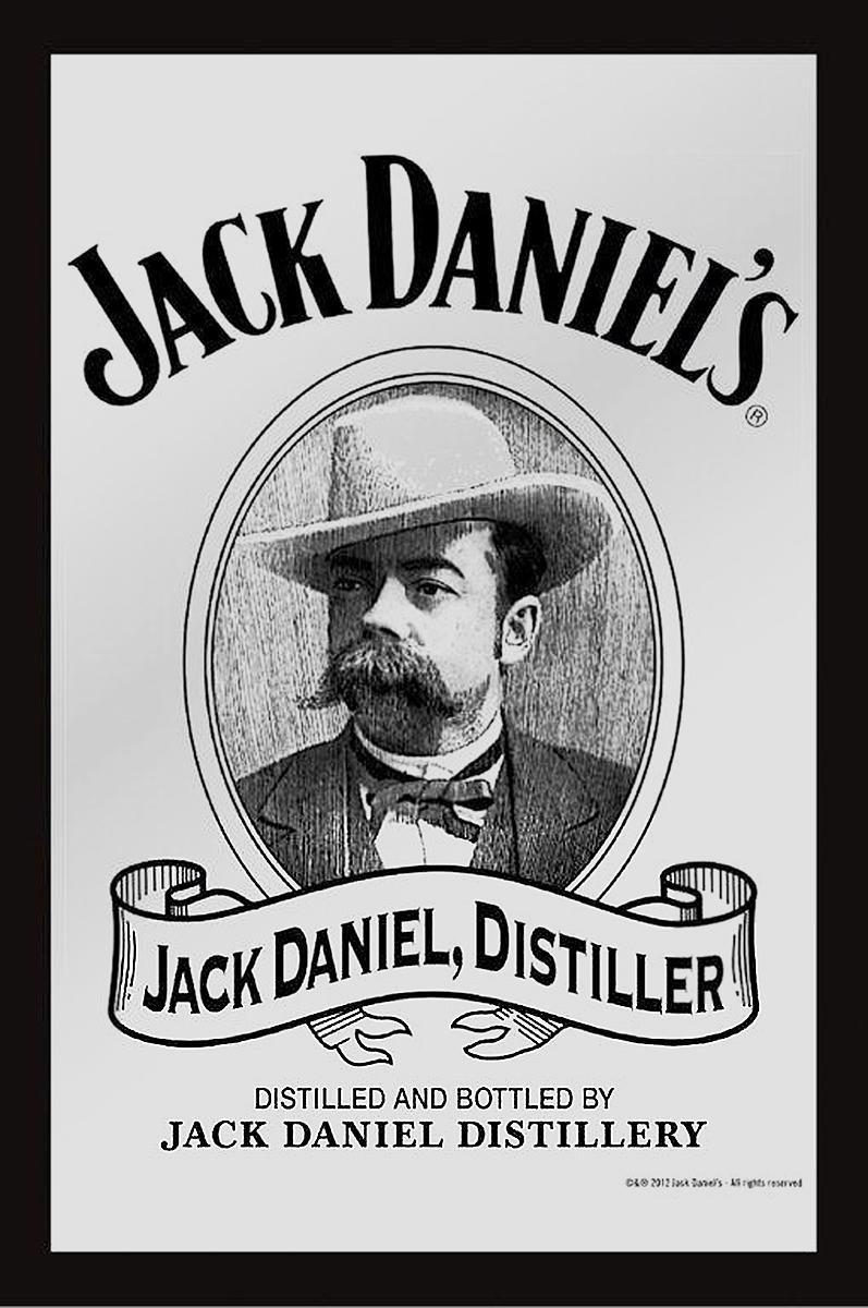 Old Destiller Close Up Espejo Decorativo con Impresi/ón Jack Daniels