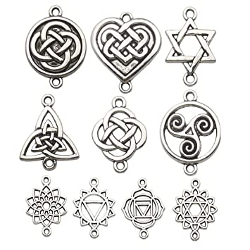 Various Style Lovely Bright Silver Tibetan Star Charms Pendants Decor /& crafts
