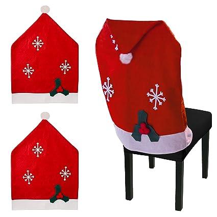 Coprisedie Natale Urhome, Decorazione Natalizia In Feltro, Coprisedie  Decorativo Sedia Di Natale, Copri