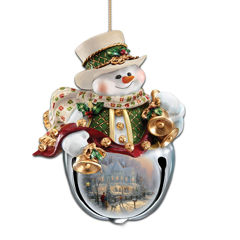 The Bradford Exchange Thomas Kinkade Christmas Bells Snowman Bell