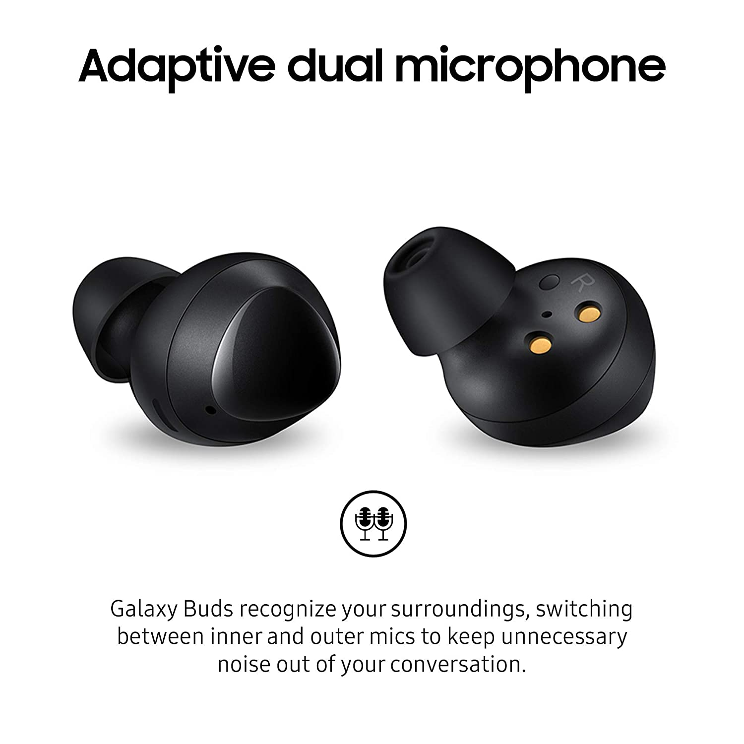 Samsung Galaxy Buds  Bluetooth True Wireless Earbuds Wireless charging Case included Black  US