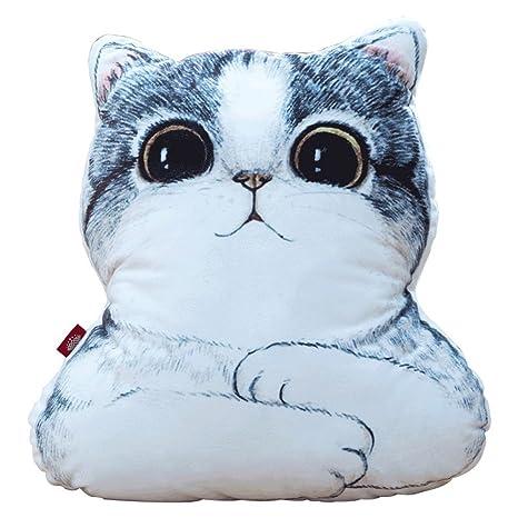 NOBRAND Almohada en Forma de Gato y cojín 1 Pieza para el ...