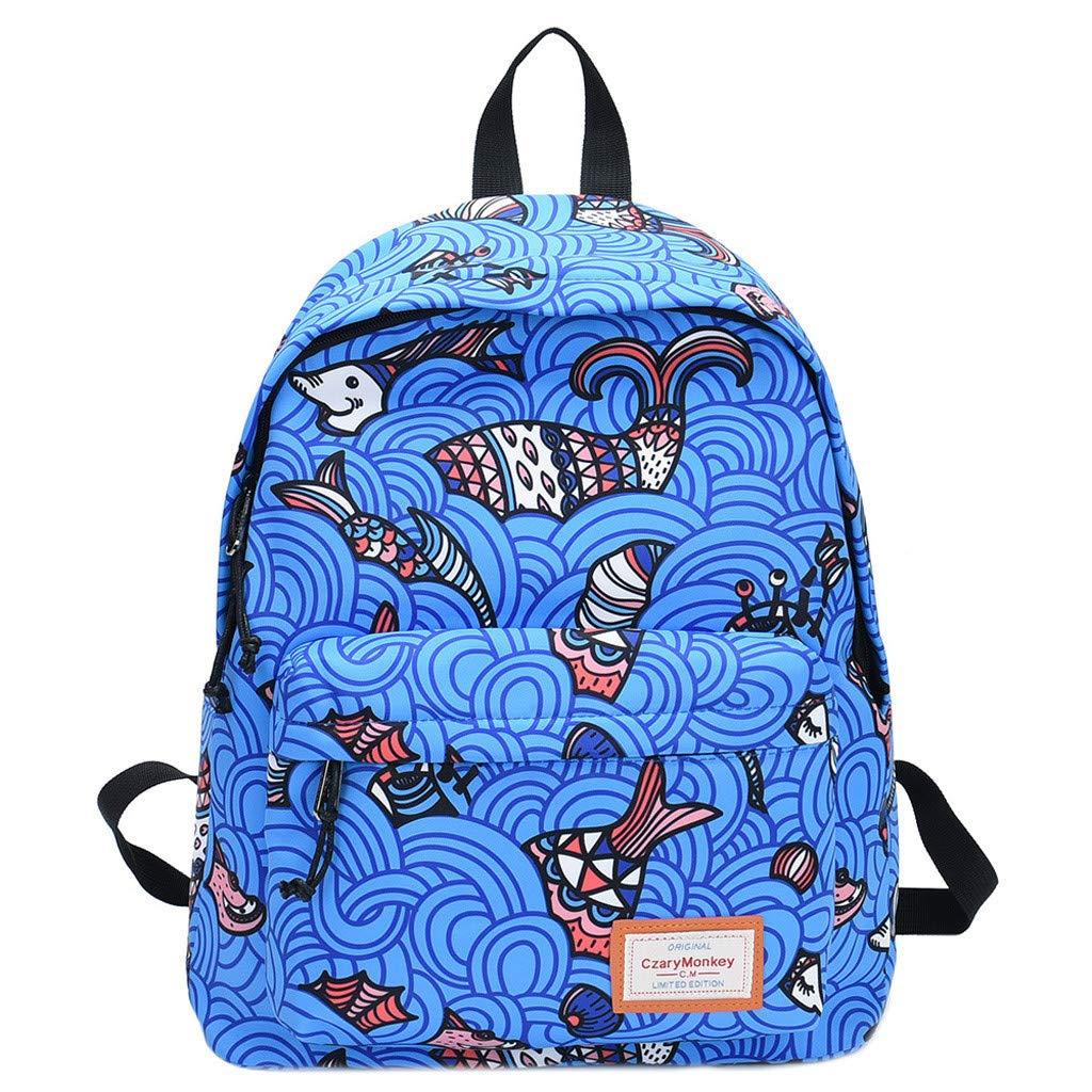 Travel Backpacks Graffiti Shoulder Bag Leisure Daypack Large Capacity School Book Bag Lightweight Backpack By Lmtime(E)