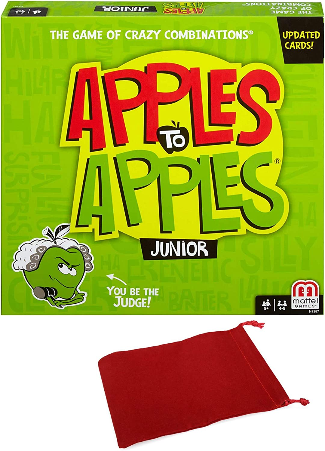 Apples to Apples Jr Junior Party Game Bundle with Drawstring Bag