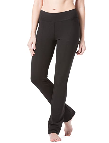 8bef9e4920f50 Fishers Finery Women's Straight Leg Yoga Pant with Pockets (Black, XS Tall)