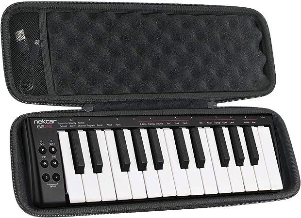 khanka Duro Viaje Estuche Bolso Funda para Nektar SE25 - Controlador de teclado USB MIDI(Case Only)