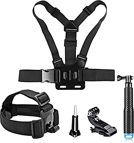 SHOOT Deportivo 5-in-1 Kit de Accesorios para GoPro Hero 8 7 6 5 4 ...